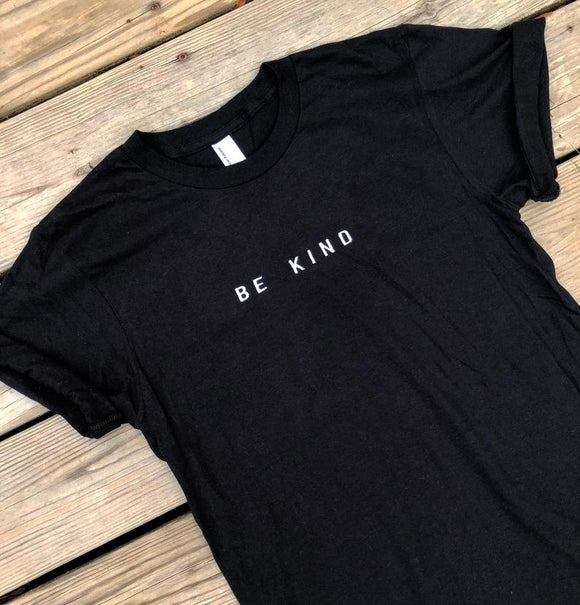 BE KIND Unisex Black T shirt