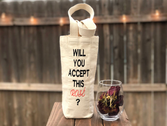 Will You Accept This Rosé Wine Tote
