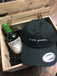 i am groom Black Dad Hat