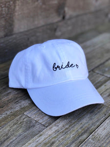 Bride with heart White Dad Hat