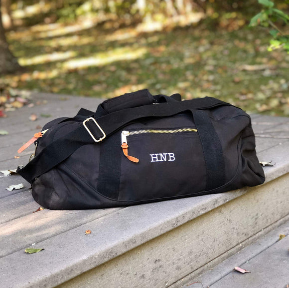 Custom Monogram Canvas Duffel Bag