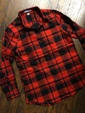 Custom Text Women's Lightweight Tunic Length Plaid Flannel Shirt