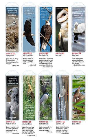 Bird Bookmarks, Set of 10