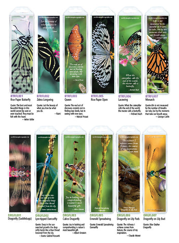 Butterfly & Dragonfly Bookmarks, Set of 12