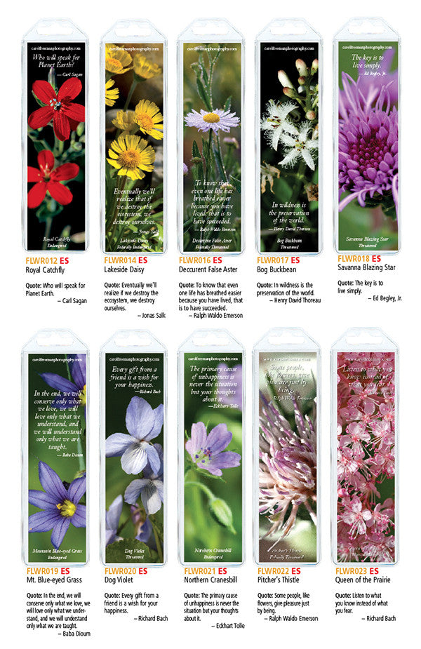 Flower Bookmarks, Set of 10