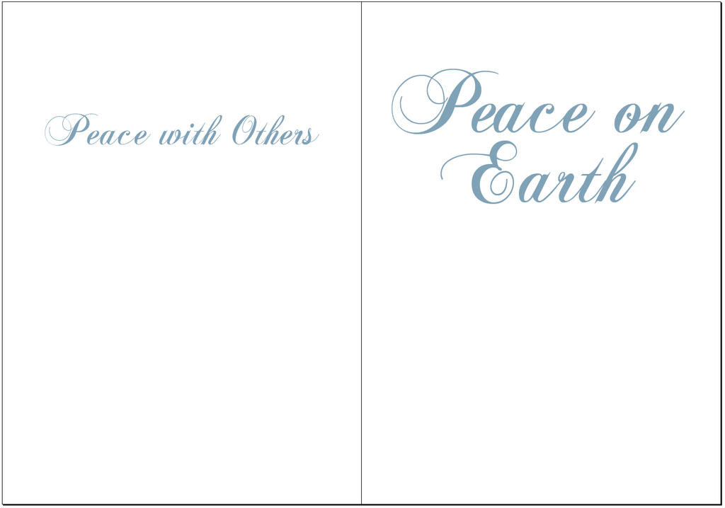 peace on earth holiday cards 10 cards carol freeman photography