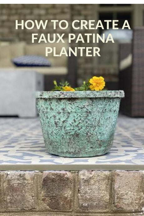 Faux Patina Planter