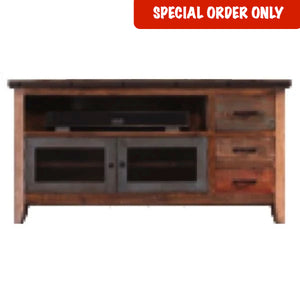 "62"" Antique Multicolor TV Stand"