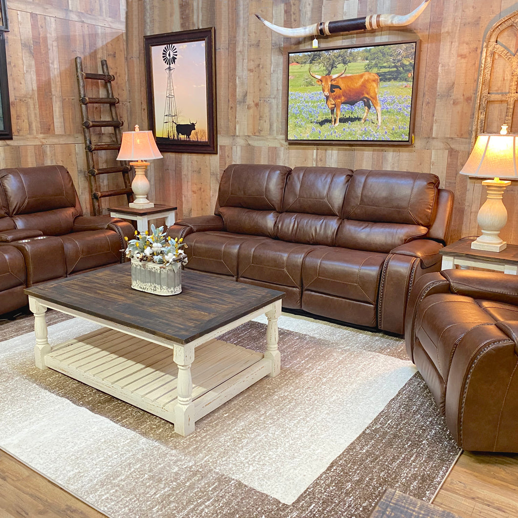 Gun Barrel Reclining Sofa Set