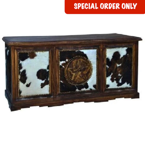 Cowhide Executive Desk
