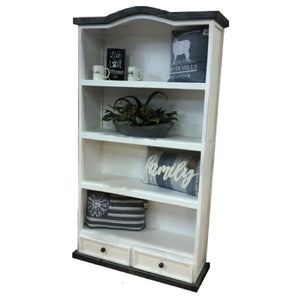Slate 2 Drawer Bookcase