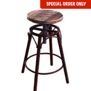 Antique Multicolor Swivel Stool