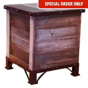 Antique Trunk End Table