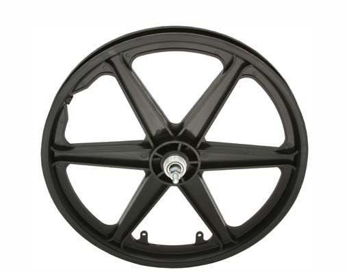 "20"" PLASTIC 6-SPOKE FREEWHEEL 3/8 AXLE BLACK"