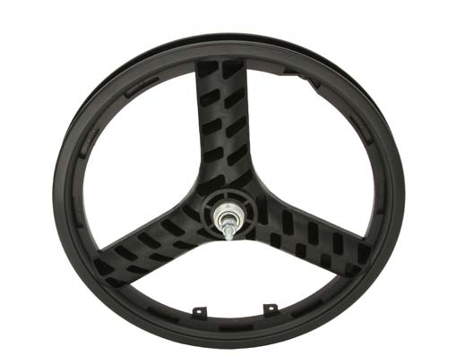 "20"" PLASTIC 3-SPOKE FREEWHEEL 3/8 AXLE BLACK"