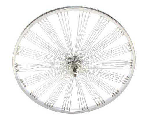 26 FAN STEEL FREEWHEEL 144 SPOKE 14G UCP 3/8 AXLE SINGLE WALL CHROME