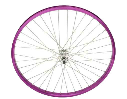 """NEW 26/"""" X 1.75 ALLOY FRONT AND COASTER WHEEL IN 36 SPOKE 12GBLACK IN BLUE!"""