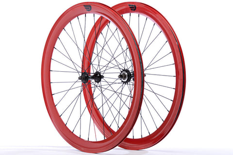 Pure Fix Red 50mm Wheelset