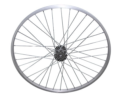 26 36/SPOKETRIKE ALLOY HOLLOW-HUB G/RIGHT WHEEL 12G UCP BEARING 15MM ID X 35MM OD SINGLE WALL SILVER
