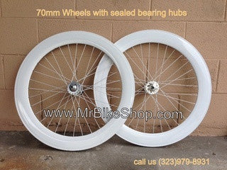 70mm Wheels White