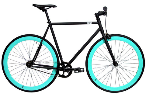 6KU Nebula Black Celeste-Single Speed Fixed Gear Bike