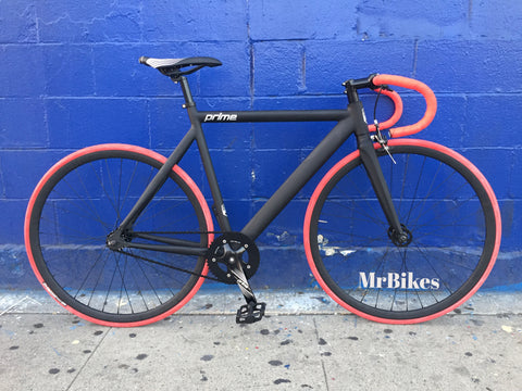 Prime Alloy Custom Black/Red Fixed Gear Bike by Mr. Bikes