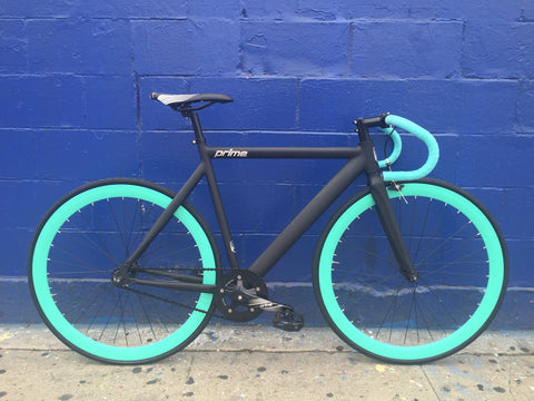 Prime Alloy Custom Black/Celeste Fixed Gear Bike by Mr. Bikes