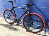 Golden Cycles Vader with Red Tires Fixie Bike