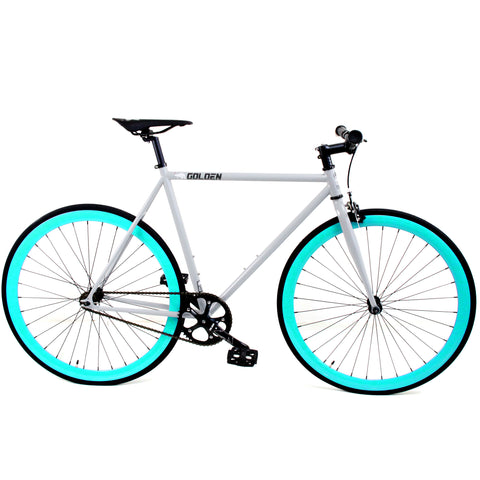 Golden Cycles Grey Celeste Fixie Bike