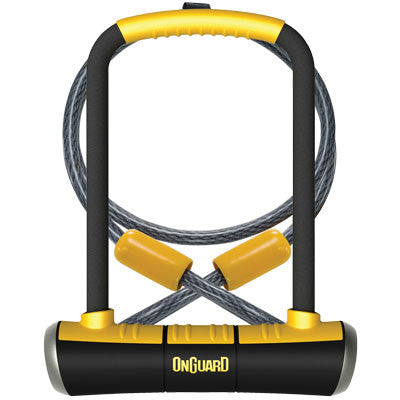 OnGuard Pit Bull DT U-Lock w.4 Cinch Loop Cable