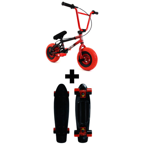 FatBoy Stunt Mini BMX Holiday Bundle Spit Fire