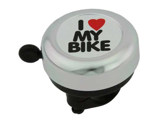Silver I Love My Bike Bell