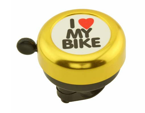 Gold I Love My Bike Bell