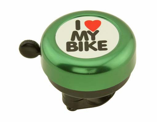Green I Love My Bike Bell