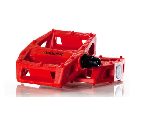 PC Demolition Pedals Solid Red