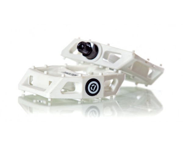 PC Demolition Pedals Solid White
