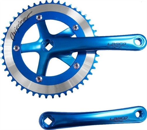 Anodized Blue Lasco Original 3pc Crankset