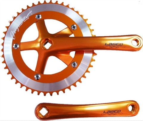 Anodized Orange Original Lasco 3pc Crankset