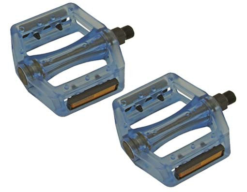 New Translucent Blue 9/16 Pedals