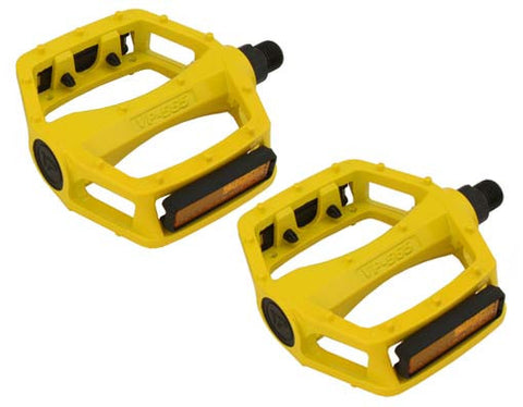 New Yellow Alloy 9/16 Pedals
