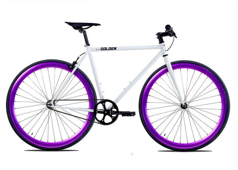 Golden Cycles Shocker Purple Fixie Bike
