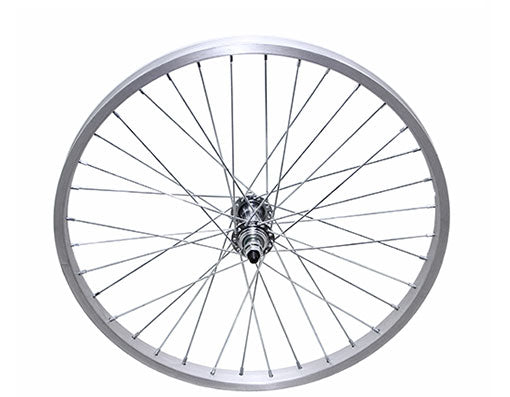 "20"" 36/SPOKE TRIKE ALLOY FRONT WHEEL 14G UCP 3/8 AXLE SINGLE WALL SILVER"