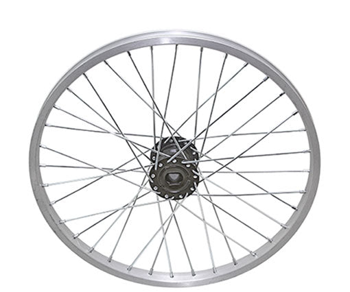 "20"" 36/SPOKE TRIKE ALLOY HOLLOW-HUB G/RIGHT WHEEL 12G UCP BEARING 15MM ID X 35MM OD SINGLE WALL SILVER"