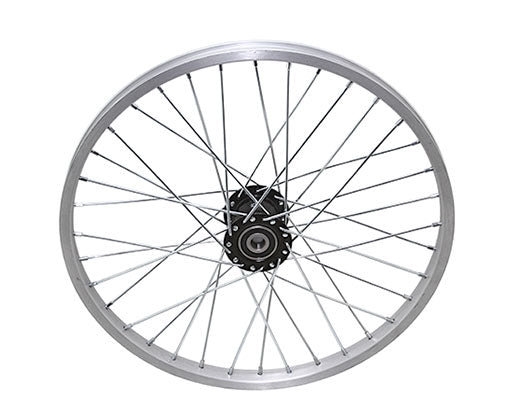 "20"" 36/SPOKE TRIKE ALLOY HOLLOW-HUB F/LEFT WHEEL 12G UCP BEARING 15MM ID X 35MM OD SINGLE WALL SILVER"