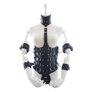 Eros BDSM Leather Harness Corset