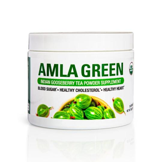AMLA GREEN TEA POWDER WITH OOLONG TEA, 1 oz 30 Servings, Blood Sugar