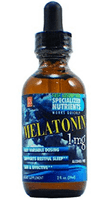 LA Naturals Melatonin 1 mg 2 oz,, Sleep, Rest, Stress, Tension, Calm