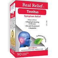 Real Relief Tinnitus, ringing buzzing in the ears, Two Pack (2 Boxes)