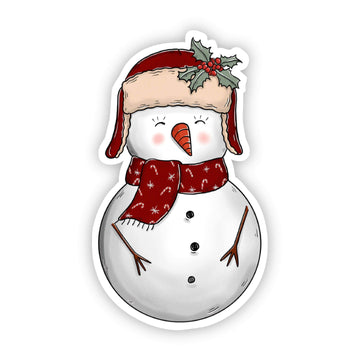 Pre- Order - Snowman with Hat Sticker - Galaxy Paw