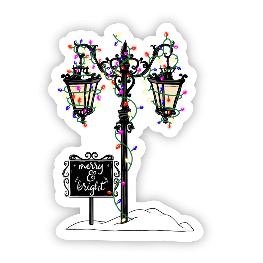 Pre- Order - Light Pole Holiday Sticker - Galaxy Paw